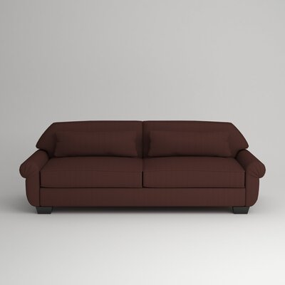 Kravitz Two-Seater Sofa Finish: Ebony, Upholstery: Zula Oxblood