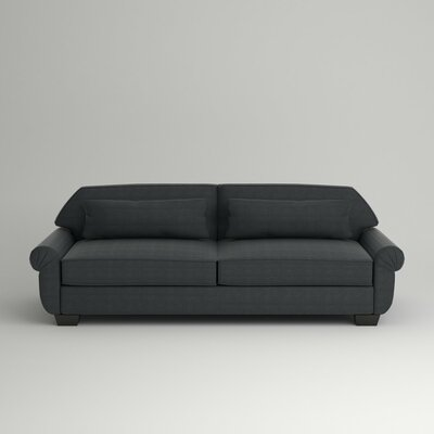Kravitz Two-Seater Sofa Leg Finish: Ebony, Body Fabric: Empire Shadow