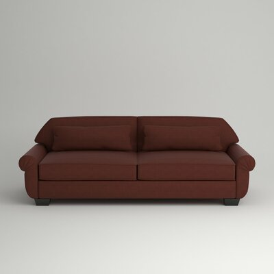 Kravitz Two-Seater Sofa Finish: Ebony, Upholstery: Empire Cinnabar
