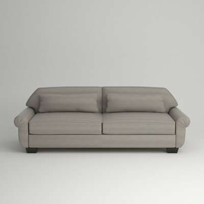 Kravitz Two-Seater Sofa Leg Finish: Ebony, Body Fabric: Empire Dove