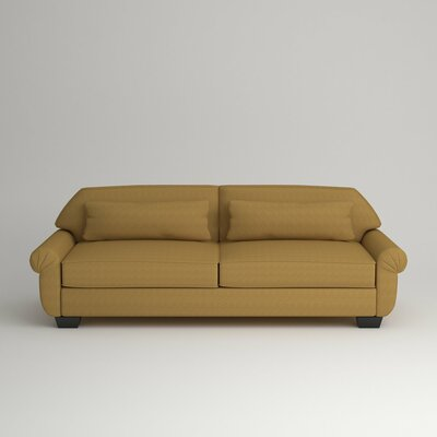 Kravitz Two-Seater Sofa Finish: Ebony, Upholstery: Messenger Citrine