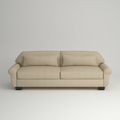 Kravitz Two-Seater Sofa Finish: Ebony, Upholstery: Devon Sand