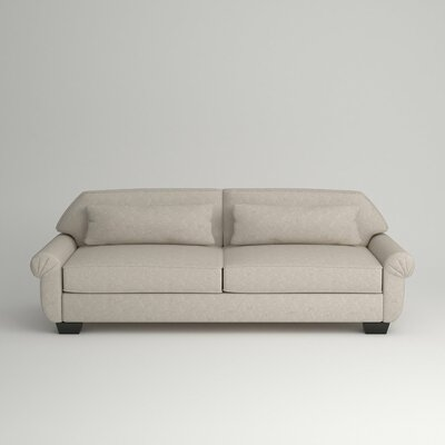 Kravitz Two-Seater Sofa Leg Finish: Ebony, Body Fabric: Nobletex Platinum