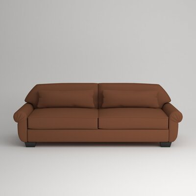 Kravitz Two-Seater Sofa Finish: Ebony, Upholstery: Nobletex Russet