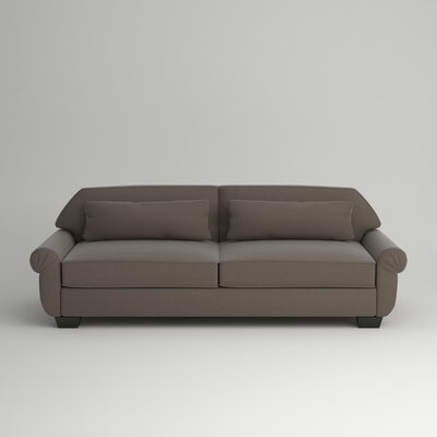 Kravitz Two-Seater Sofa Leg Finish: Ebony, Body Fabric: Hermes Seal