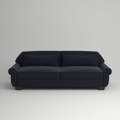 Kravitz Two-Seater Sofa Finish: Ebony, Upholstery: Hermes Normandy