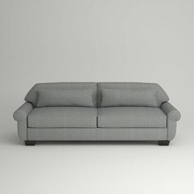 Kravitz Two-Seater Sofa Upholstery: Equinox Navy, Finish: Ebony