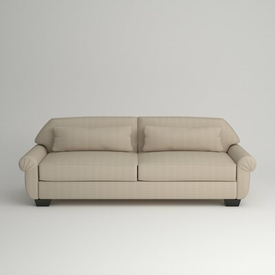 Kravitz Two-Seater Sofa Finish: Ebony, Upholstery: Equinox Beige