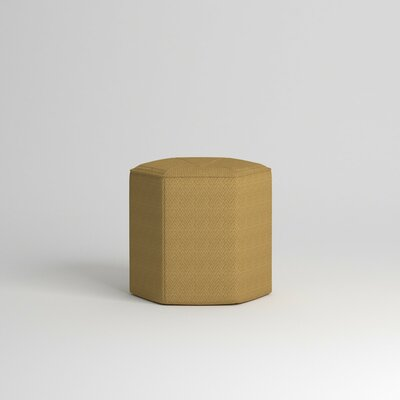 Pillar Ottoman Body Fabric: Messenger Citrine
