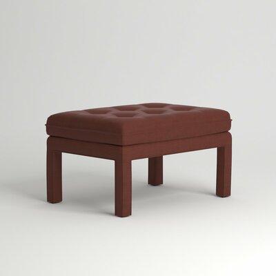 Warren Ottoman Upholstery: Empire Cinnabar