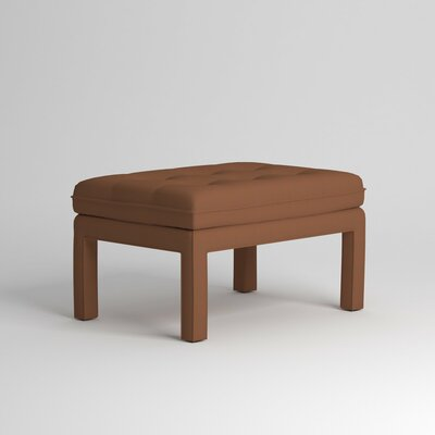 Warren Ottoman Upholstery: Nobletex Russet