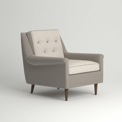 Rockford Chair Leg Finish: Ebony, Body Fabric: Nobletex Platinum