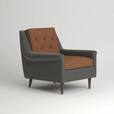 Rockford Chair Leg Finish: Black Walnut, Body Fabric: Nobletex Russet