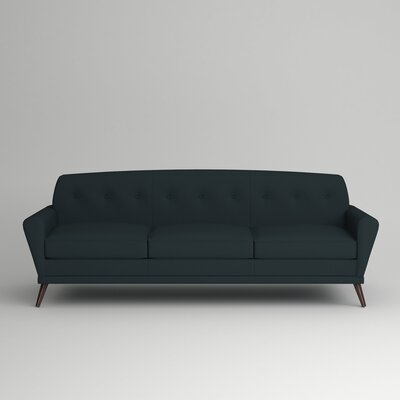 Marco Sofa Leg Finish: French Oak, Body Fabric: Zula Navy