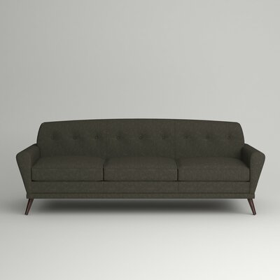 Marco Sofa Leg Finish: Black Walnut, Body Fabric: Zula Charcoal