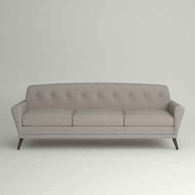 Marco Sofa Leg Finish: Ebony, Body Fabric: Zula Pumice