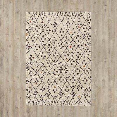 Serefina Khaki/ Dark Brown Area Rug Size: Rectangle 54 x 7