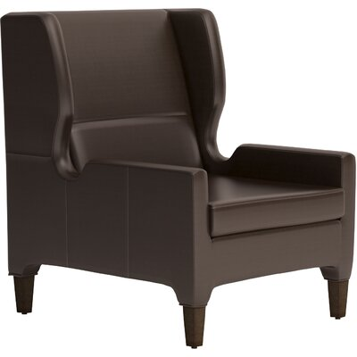 Renzo Arm Chair Finish: Ebony, Upholstery: Pony Chocolate