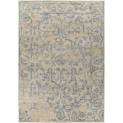 Bagras Beige/Slate Oriental Area Rug Rug Size: Rectangle 33 x 53
