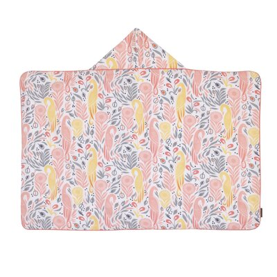 Boheme Printed Percale/Solid Woven Terry Hooded Bath Towel