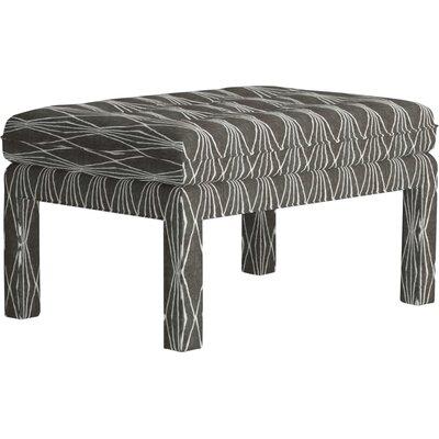 Warren Ottoman Upholstery: Abby Charcoal