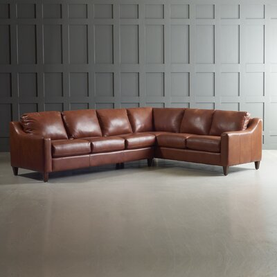 Jesper Sectional Leg Finish: Black Walnut, Body Fabric: Steamboat Chestnut, Orientation: Left Hand Facing