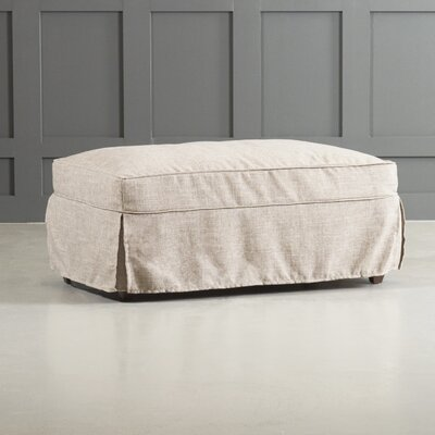 Bleeker Ottoman Body Fabric: Bull Natural
