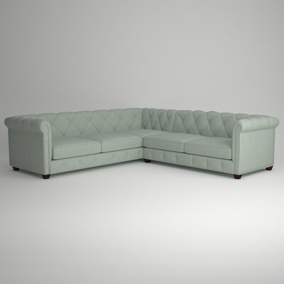 Keegan Sectional Upholstery: Nobletex Rain, Orientation: Right Facing