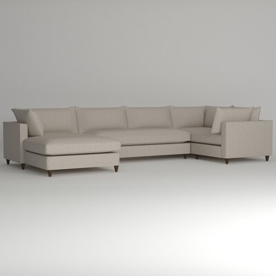 Ayla Sectional Upholstery: Nobletex Platinum, Orientation: Right Facing