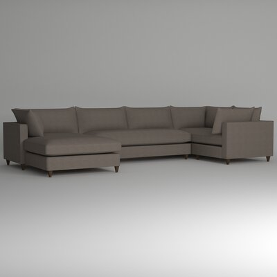 Ayla Sectional Upholstery: Devon Heather, Orientation: Right Facing
