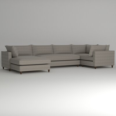 Ayla Sectional Upholstery: Empire Dove, Orientation: Right Facing