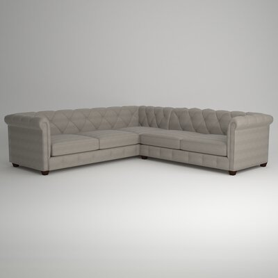 Keegan Sectional Upholstery: Empire Dove, Orientation: Right Facing