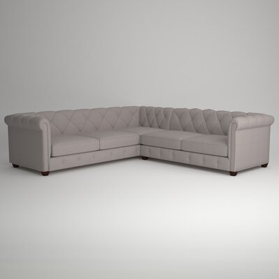 Keegan Sectional Upholstery: Empire Cinnabar, Orientation: Left Facing