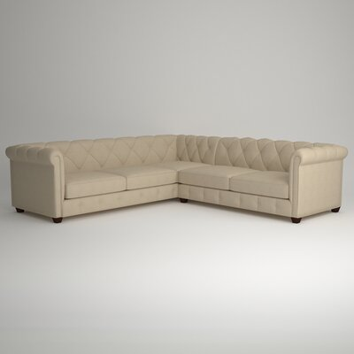 Keegan Sectional Upholstery: Devon Sand, Orientation: Right Facing