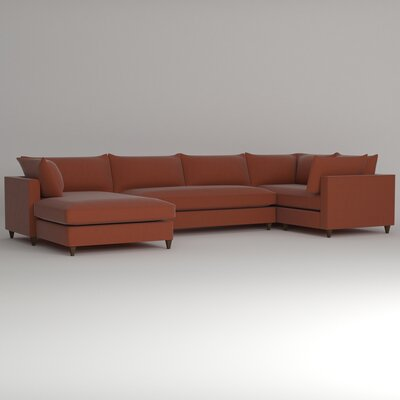 Ayla Sectional Upholstery: Hermes Peppermint, Orientation: Right Facing