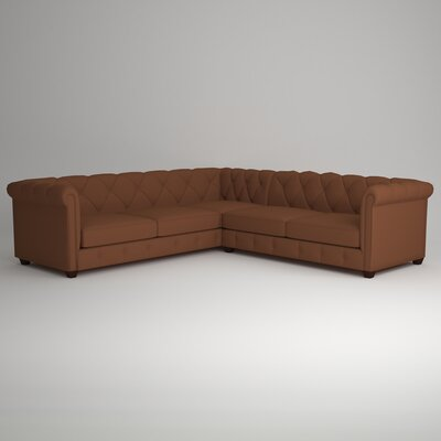 Keegan Sectional Upholstery: Nobletex Russet, Orientation: Left Facing