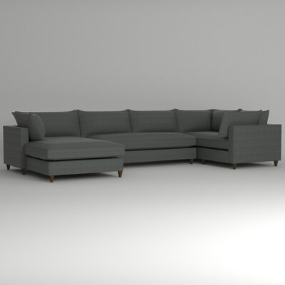 Ayla Sectional Upholstery: Empire Steel, Orientation: Right Facing
