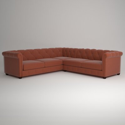 Keegan Sectional Upholstery: Hermes Peppermint, Orientation: Right Facing
