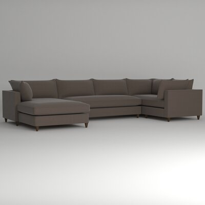 Ayla Sectional Upholstery: Hermes Seal, Orientation: Left Facing
