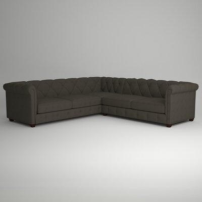 Keegan Sectional Upholstery: Devon Pewter, Orientation: Left Facing