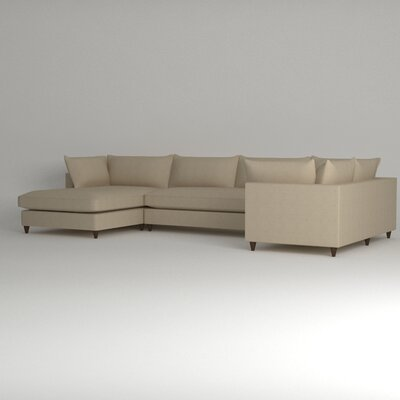 Ayla Sectional Upholstery: Zula Linen, Orientation: Right Facing