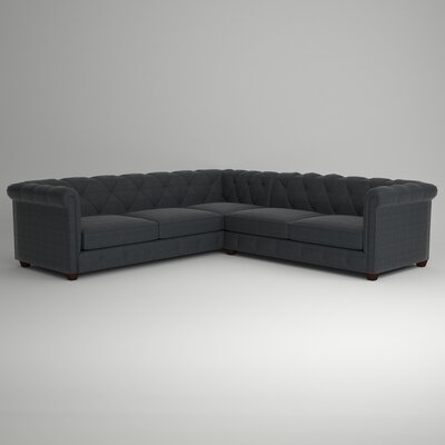 Keegan Sectional Upholstery: Empire Shadow, Orientation: Right Facing