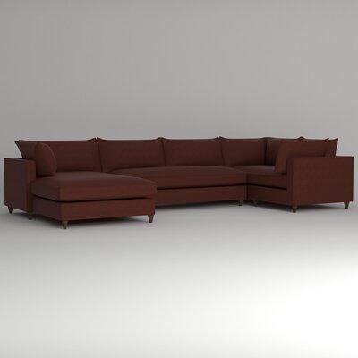 Ayla Sectional Upholstery: Empire Cinnabar, Orientation: Left Facing