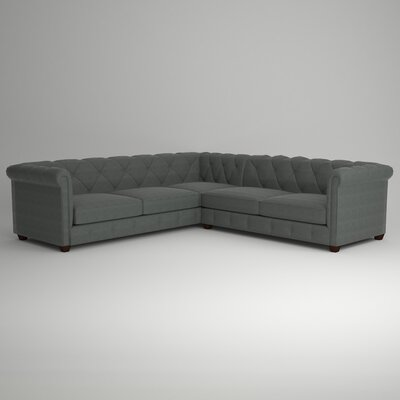 Keegan Sectional Upholstery: Empire Steel, Orientation: Right Facing