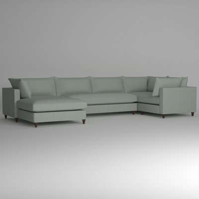 Ayla Sectional Upholstery: Nobletex Rain, Orientation: Left Facing