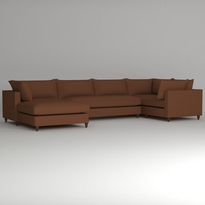 Ayla Sectional Upholstery: Nobletex Russet, Orientation: Left Facing