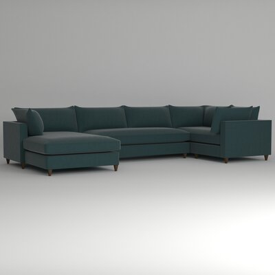 Ayla Sectional Upholstery: Hermes Peacock, Orientation: Right Facing