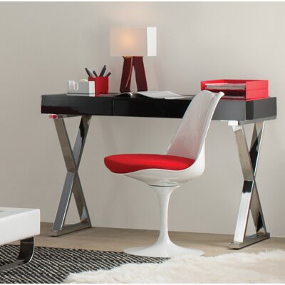 Bailey Side Chair Upholstery Color: Red, Frame Color: White
