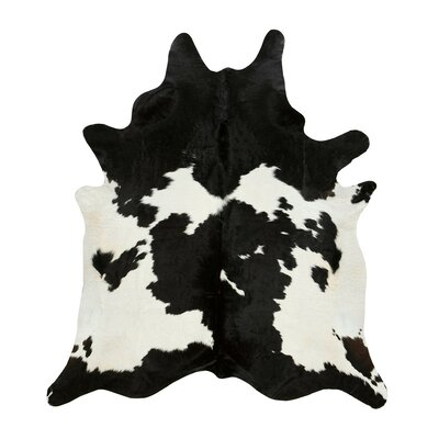 Miguel Cowhide Black/White Area Rug