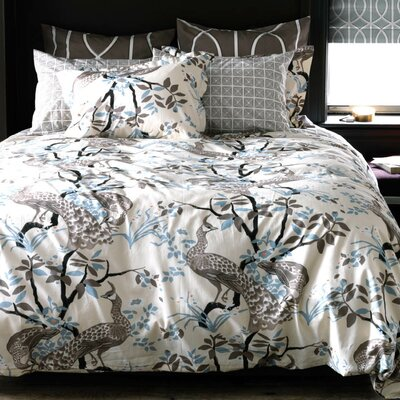 Peacock Dove Duvet Cover Size: King
